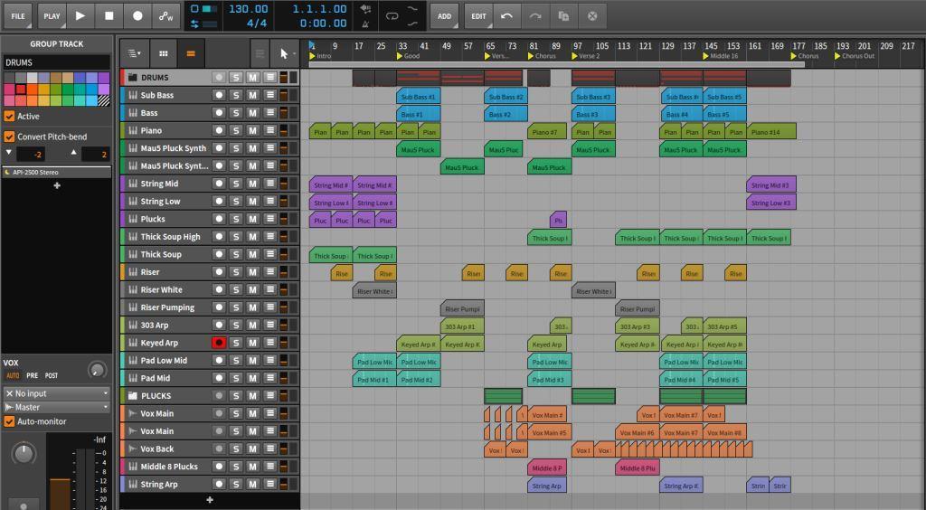 bitwig studio workflow in daw