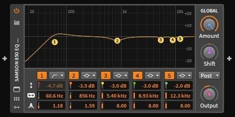 Samson SR850 EQ headphone profile