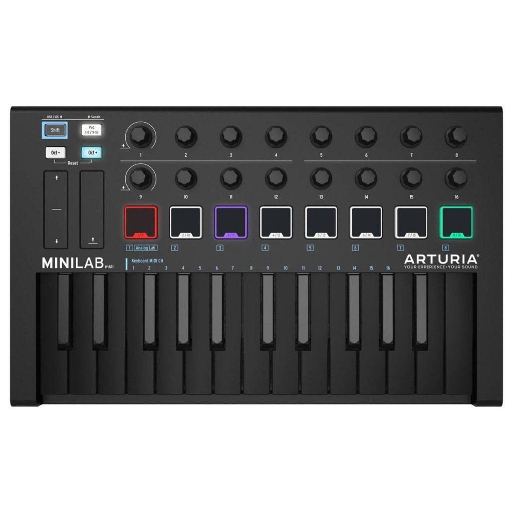Arturia MiniLab Universal MKII MIDI Controller, Deep BlackLimited-edition, black-on-black finish£85.003 in stock