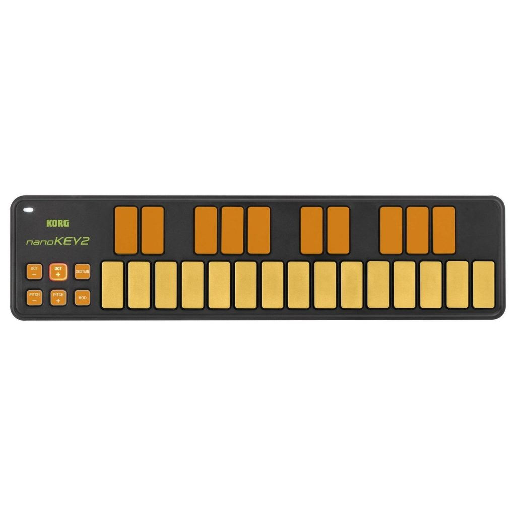 Korg nanoKEY2 USB MIDI Controller, Orange/GreenLimited-edition orange/green finish£41.803 in stock
