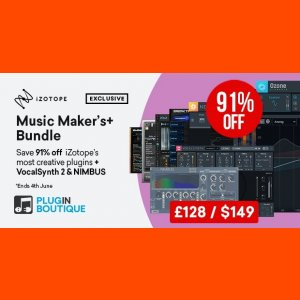 iZotope Music Maker's+ Bundle [Plugin Boutique Exclusive]