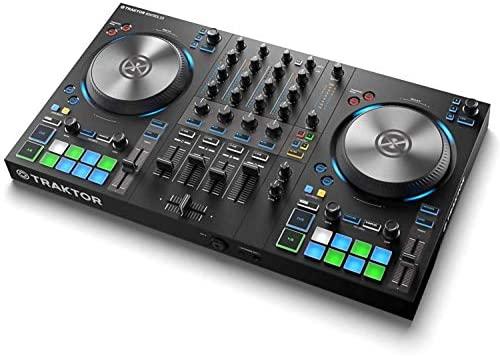 Native Instruments Traktor Kontrol S3 DJ Controller + Traktor Pro 3 Software, Compatible with iPad
