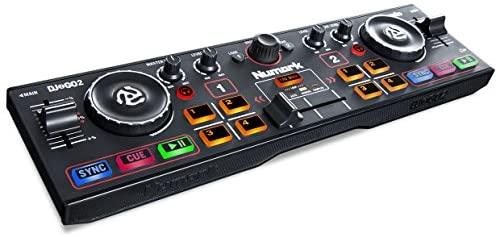 Numark DJ2GO2 - Complete USB DJ Controller Set For Serato DJ with 2 Decks, a Mixer / Crossfader, Audio Interface and Jog Wheels