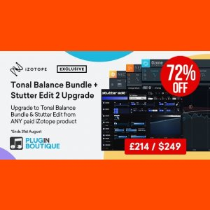 Tonal Balance Bundle & Stutter Edit 2 Upgrade from ANY paid iZotope Product
