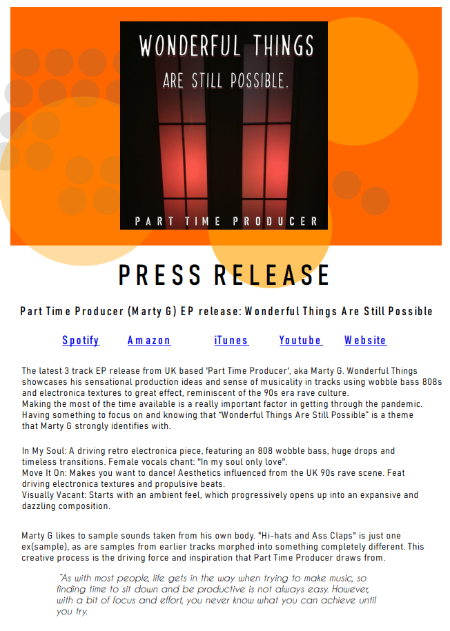 Write A Music Press Release