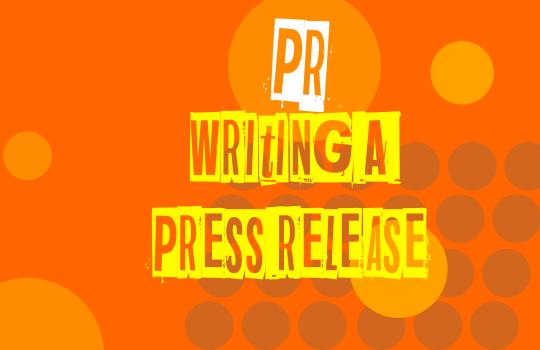 PR writing a press release