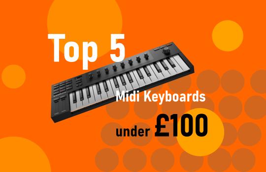 top 5 bitwig midi keyboards under £100