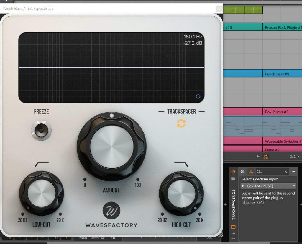 Wavesfactory Trackspacer Review In Bitwig Studio Amount Dial In
