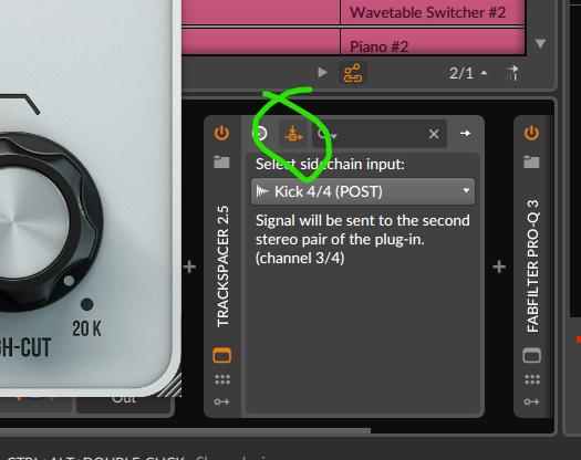 Trackspacer In Bitwig Studio Sidechain Input