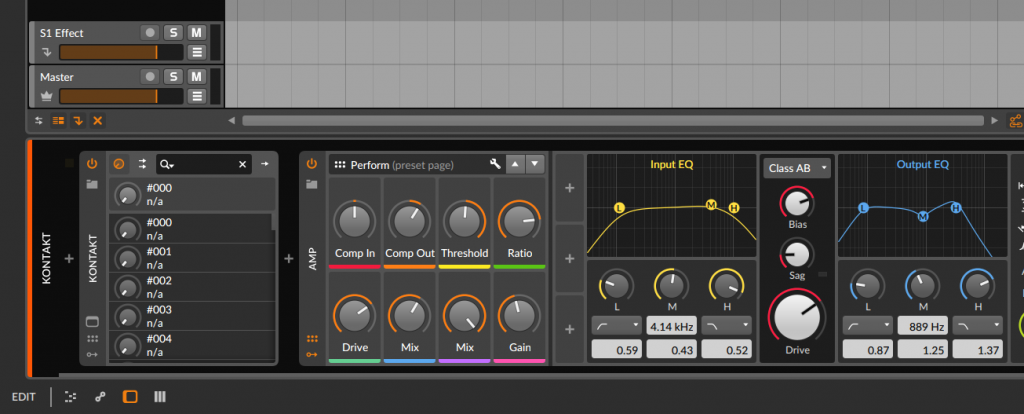 Bitwig Studio Amp Plugin With Wavesfactory Strum Guitar