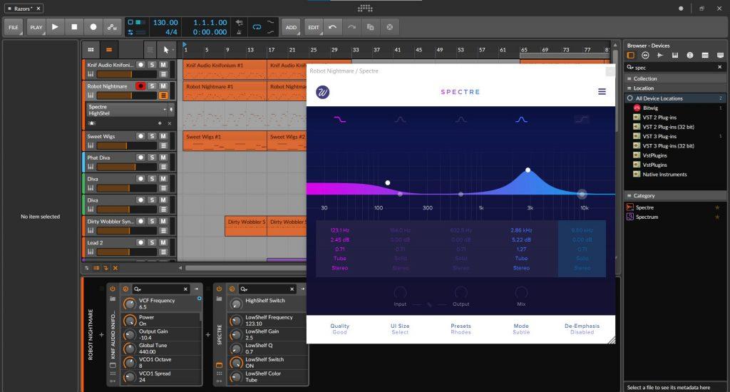 Wavesfactory Spectre Review In Bitwig Studio