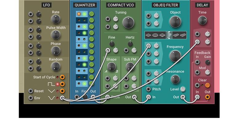 Multiphonics Cv-1 Modular Synthesizer Review Screen Shot